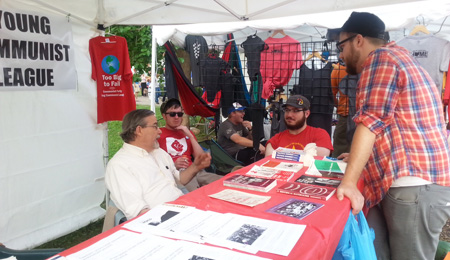 The times are a-changin, says Communist organizer at Columbus festival