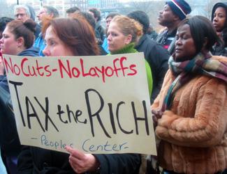 ¡Salvemos nuestra nación! !Impuesto para las empresas! ¡Impuesto para los ricos!