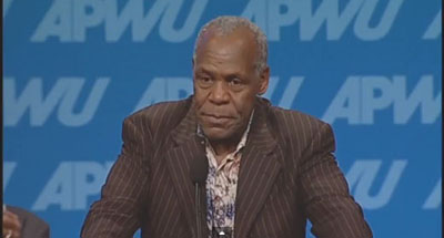 "On union's push to save postal service, Danny Glover says, ""I'm in"""