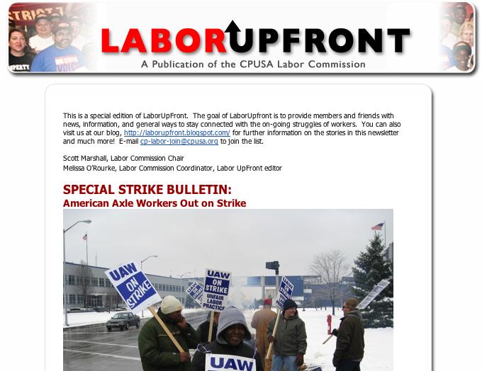 Labor Upfront – Strike Alert!