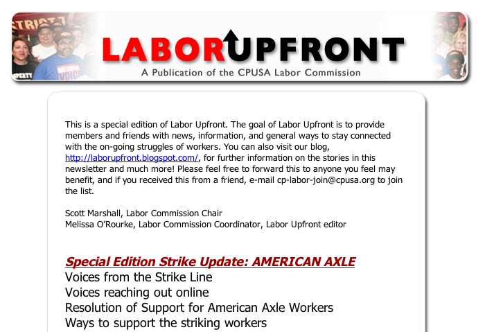 Labor Upfront, Special Edition Strike Update: AMERICAN AXLE