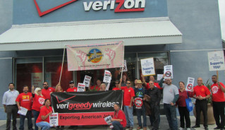 Support Verizon Worker's Virtual Picket Line!
