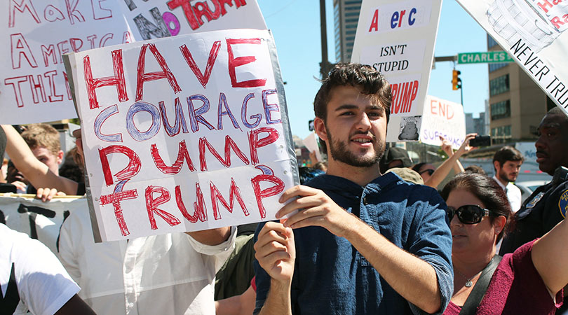 Standing together in protest: Unity will Trump hate