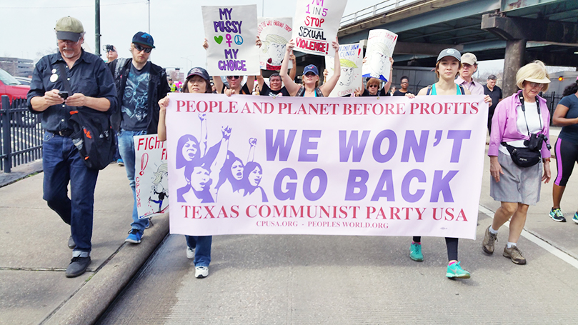 Houston TX party club building a front against Trump