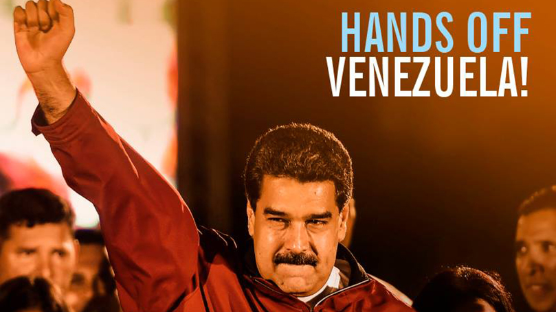 End U.S. attacks on the Bolivarian Republic of Venezuela!