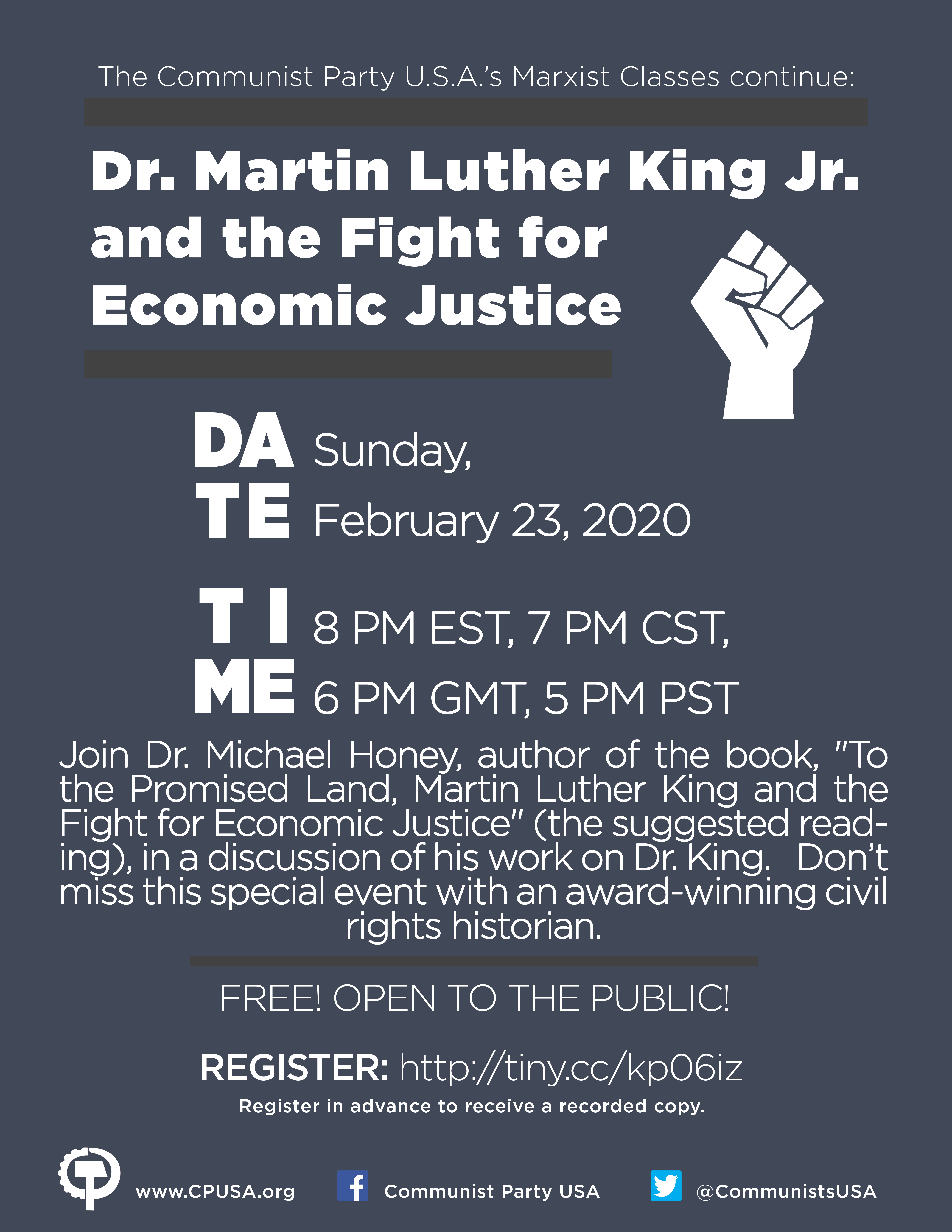 Dr. Martin Luther King Jr. and the fight for economic justice