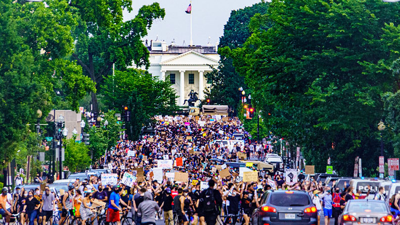 Black Lives Matter protests continue at Trump's doorstep