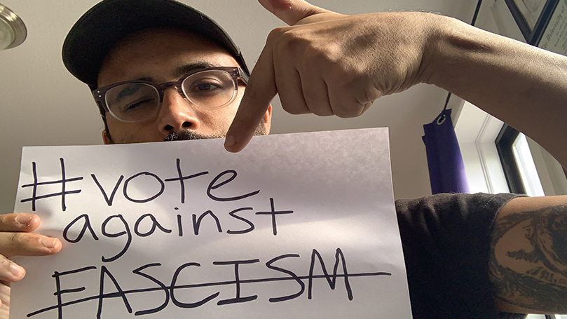 Election countdown: #VoteAgainstFascism