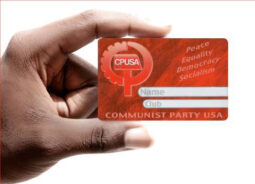 I am up with card-carrying communists